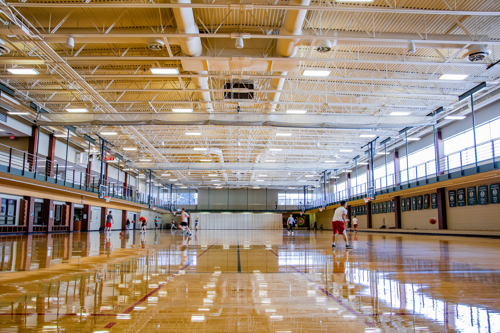 Basketball courts at the Student Rec Center.