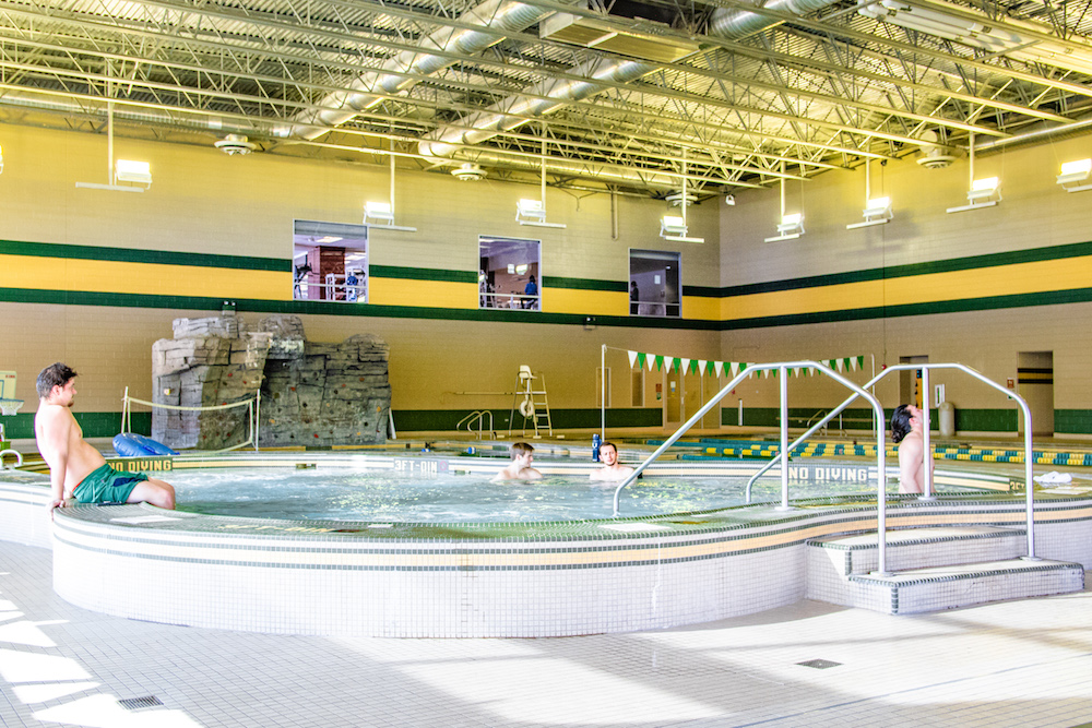 A photo of the Rec's hot tub.