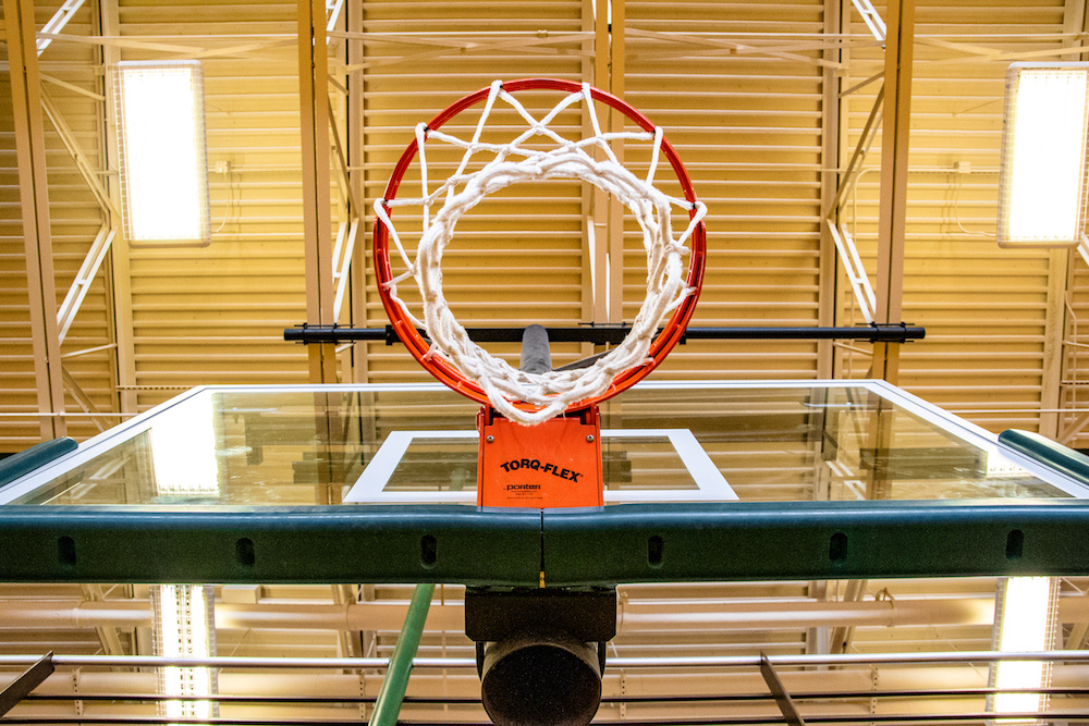 A photo of a basketball hoop.