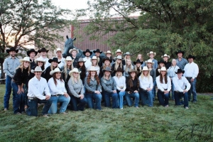 Photo of rodeo sports club participants.
