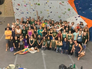 Photo of rock climbing team.