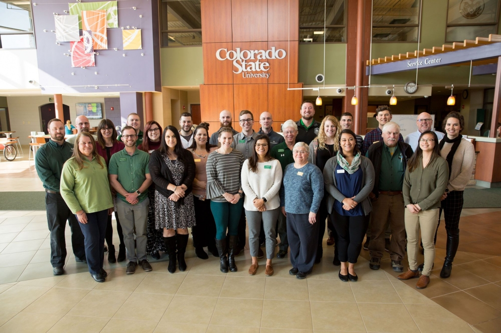 A photo of the professional staff team at CSU Campus Recreation