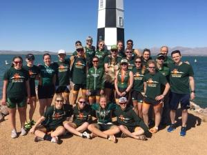 Team photo of Triathlon Team participants.