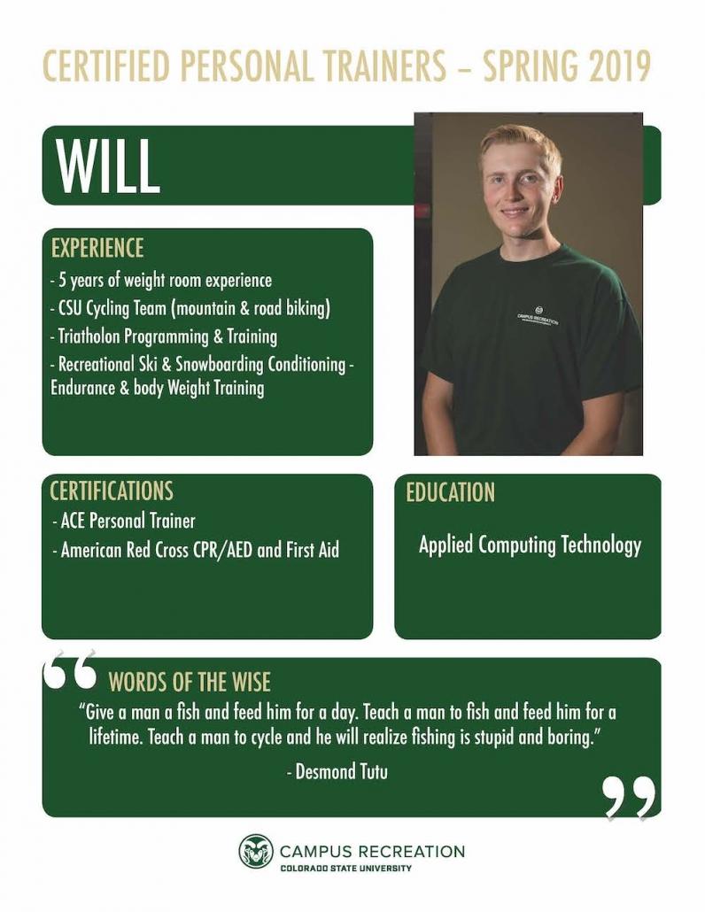 PT Bio for Will.
