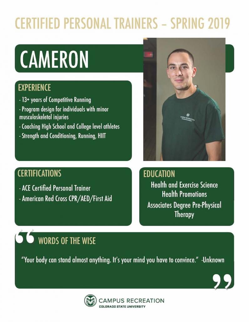 PT Bio for Cameron.