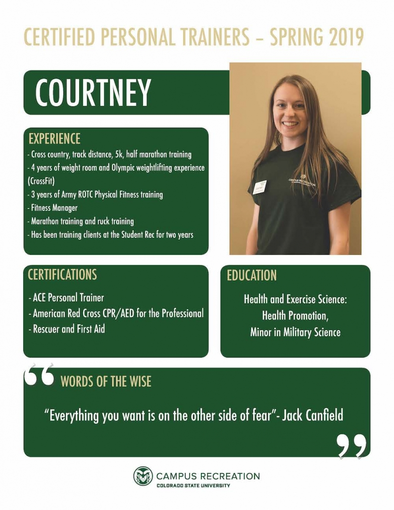 PT Bio for Courtney.