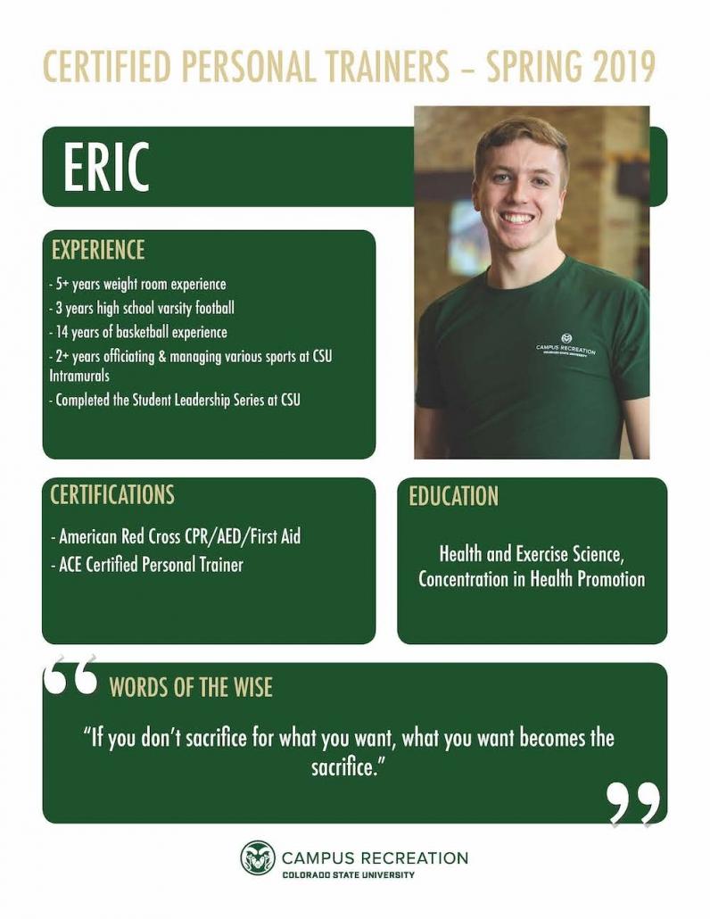 PT Bio for Eric.