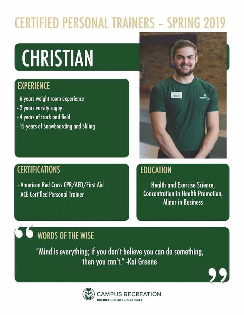 PT Bio for Christian.