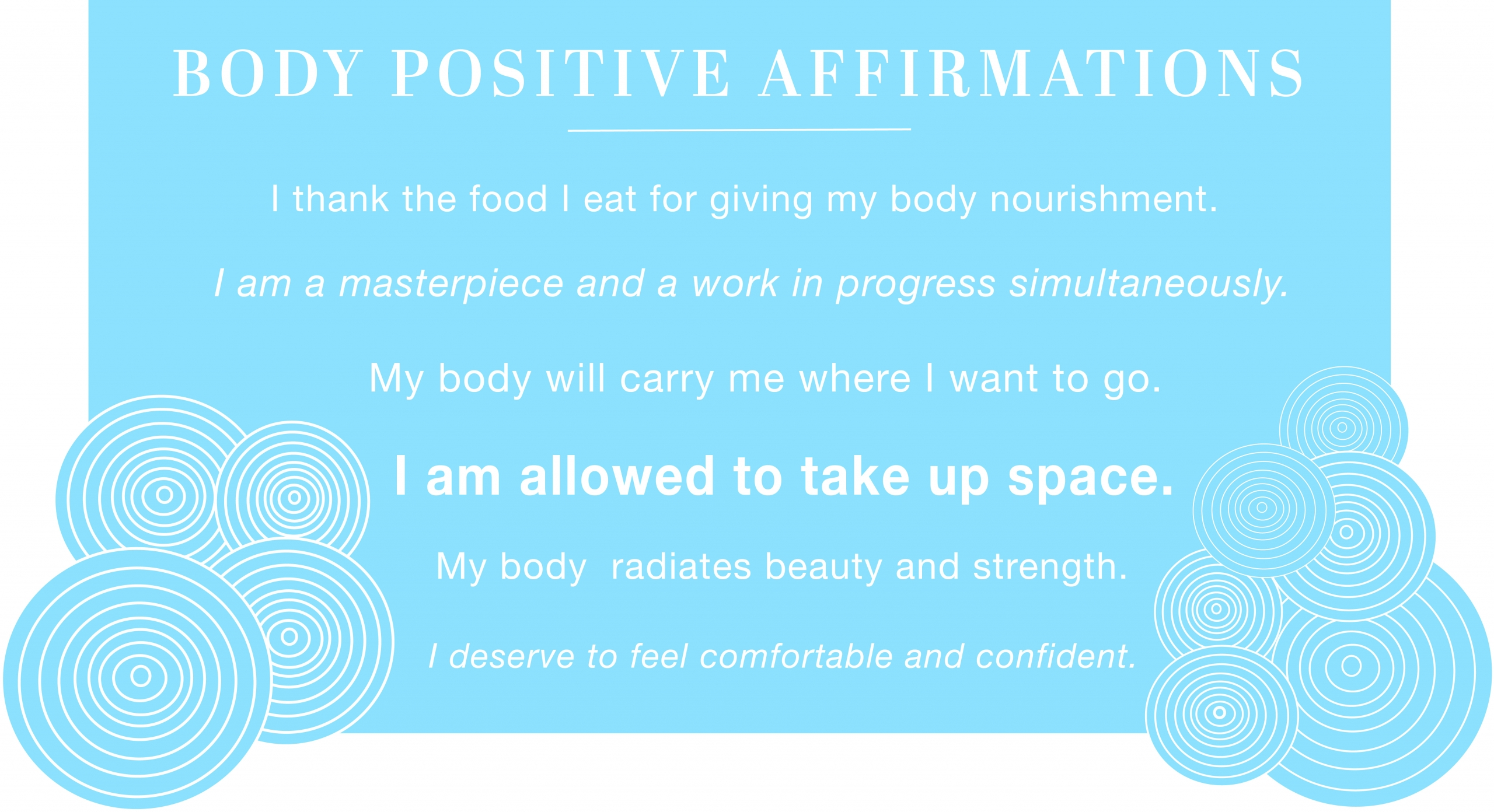 a list of body positive affirmations