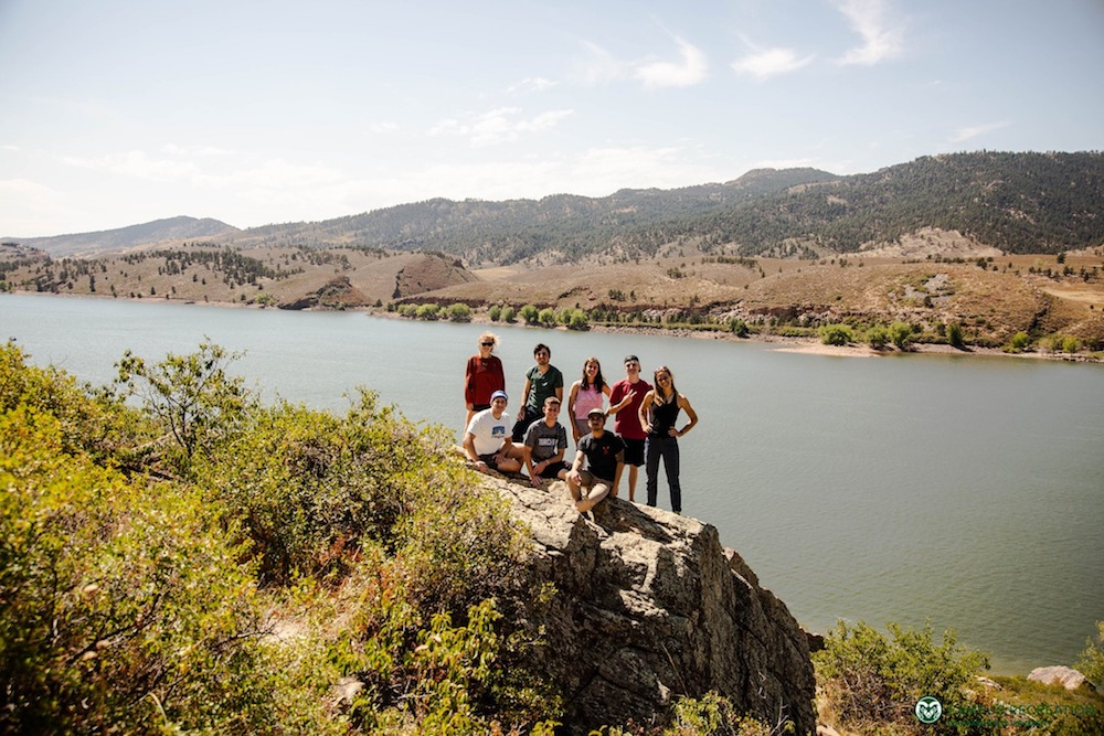 A group of OP participants enjoy the views from Horsetooth Reservoir in Fort Collins.